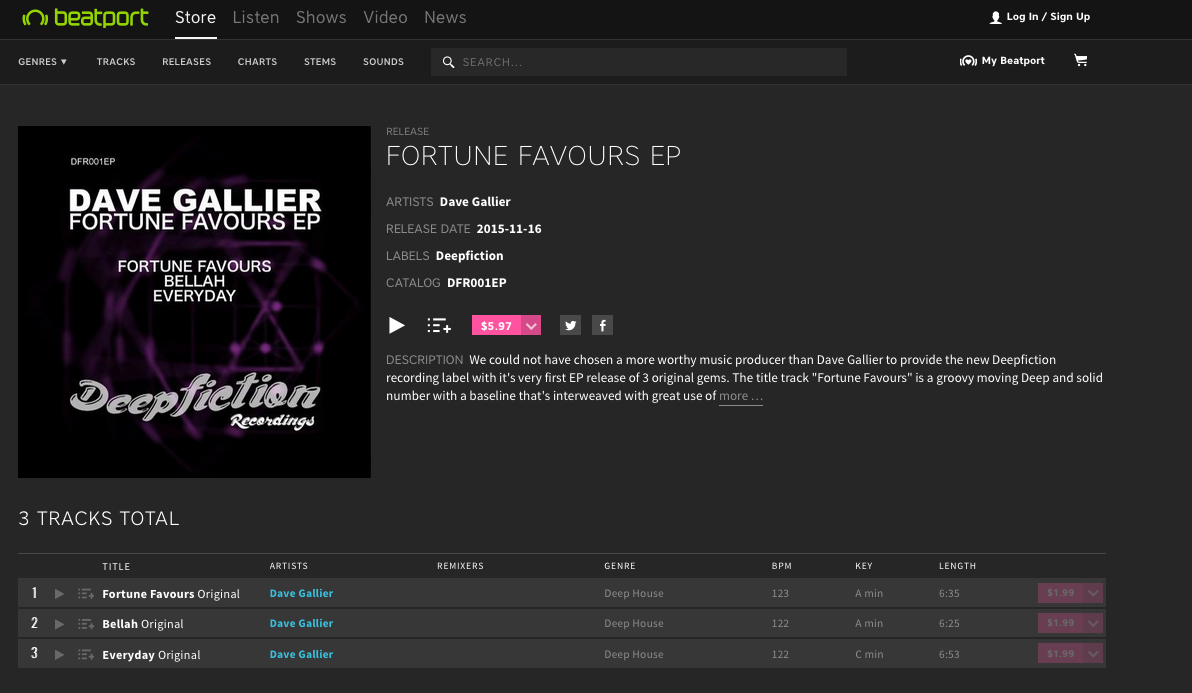 fortune favours beatport ss